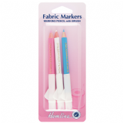 Hemline - Fabric Markers With Brush - Set of 3